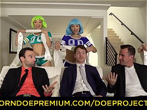 CINEDOE - sizzling orgy reunion with super-steamy honey Abella Danger