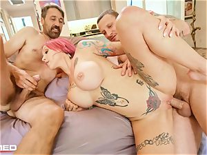 wedged Anna Bell Peaks busts ash she porks two meatpipes
