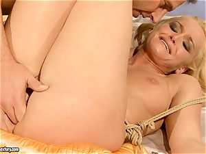 hot Kathia Nobili gets her coochie packed with man rod