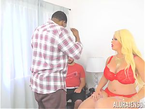 milf Alura Jenson makes her daughters bf see as she gets boinked