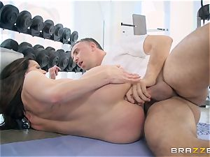 insatiable dark haired Kendra passion buttfuck fucked at the gym