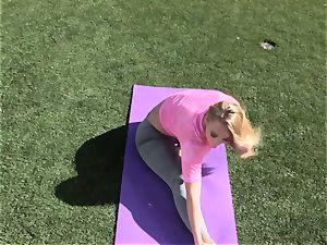 AJ Applegate outdoor yoga shag