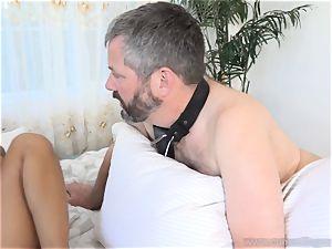 Holly Hendrix Cuckolds hubby and Makes Him eat jizz