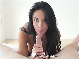 PureMature mummy Anissa Kate buttfuck pound and creampie