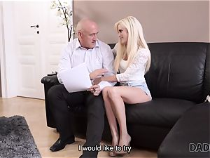 DADDY4K. aged dude gladly sates nubile s appetite for edible love jam
