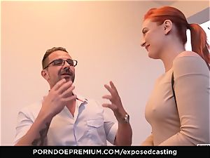 revealed audition - puny Russian red-haired splatters rock-hard