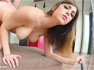 Amelia Lyn presented in raunchy anal invasion scene hardcore style