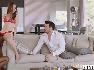 VIXEN Riley Reid has powerful 3some with Ana Foxxx and boyfriend