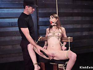 slave training for slender black-haired bi-atch