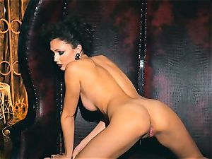 slim small Ariana Marie wondrous rubber solo onanism