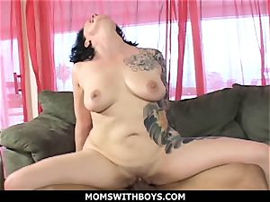 MomsWithBoys - meaty jugged milf Michelle Aston And A massive man meat