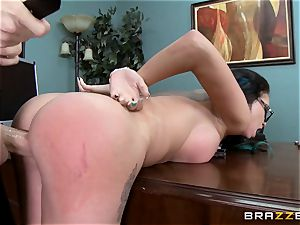 Raven Bay takes her bosses meaty manmeat across the desk