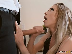 Aiden Ashley slobbering on a huge knob