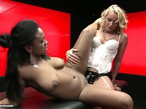 tough Kathia Nobili shoves her cable on knob deep down her playmate gullet