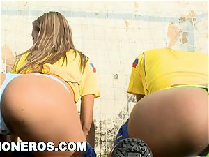 CULIONEROS - jaw-dropping Latina Soccer Players with enormous arses