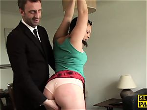 Facefucked slave Kloe milky unloads everywhere