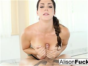 Alison Tyler gives a cool blow job with melon humping