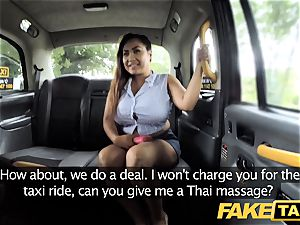 faux taxi Thai masseuse with immense mammories works her magic