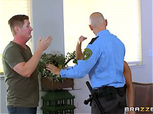 Abigail Mac gets shafted by a torrid cop in uniform