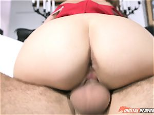 gorgeous Riley Reid inserted hard in her tiny cunt