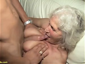75 years old granny very first pornography vid