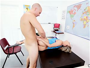 diminutive Marsha May cheats on her test and gets smashed in her honey pot
