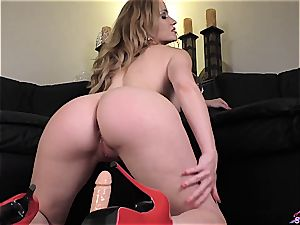 Angela Sommers doing a fuck stick lapdance