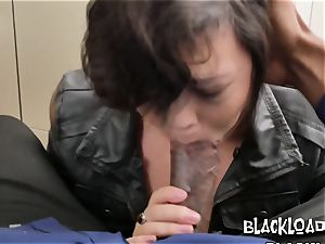 brief haired mega-bitch is nailed stiff and rough by wild directors bbc