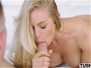 cute sex industry star Nicole Aniston gets butt-fucked for the first-ever time