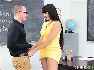 Mercedes Carrera bangs her schoolgirl
