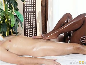 Kerian Lee slams his lubed man sausage into warm black stunner Ana Foxxx