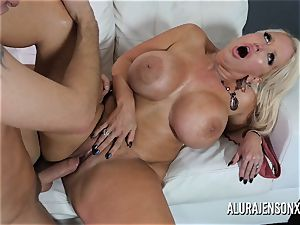 ample boob mummy Alura Jenson likes pulverizing junior men