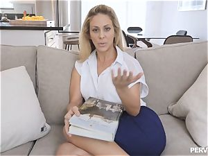 milf Cherie Deville nearly caught by hubby fucking stepson