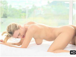 jaw-dropping towheaded Natalia Starr torn up stiff