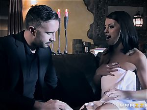Adriana Chechik inhales rock hard on Keiran Lee