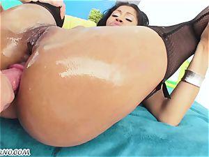 very uber-sexy porno with biotch latin babe who luvs backside nailing