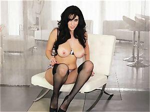 Jelena Jensen is alone and naughty as she masturbates
