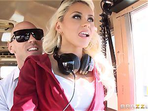 horny hitchhiker Marsha May romping red-hot bus driver