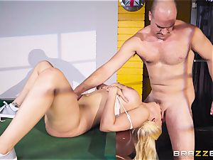 Luna star dilled testicles deep in her taut minge