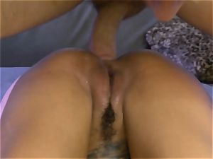 tatted Bonnie Rotten pumps out during anal invasion