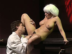 Charley chase is a platinum haired ravage woman