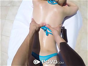 POVD Outdoor penetrate and facial for light-haired Alexa mercy