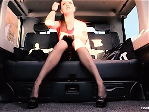 drilled IN TRAFFIC - brit Tina Kay pummeled in the car