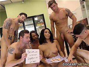 black Loni vet interracial group sex