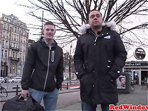 yam-sized Amsterdam call girl cockriding tourist