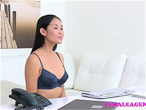 doll Agent marvelous chinese model licks and tastes pussy
