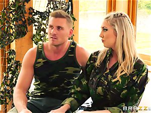Army babes Lexi Lowe and Stella Cox get a double helping of trunk
