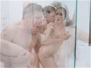 Lena Paul shower smash with hunky German Mick Blue