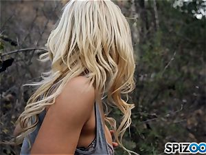 ash-blonde sweeties Sarah Vandella and Alix Lynx shag with hooded fellow