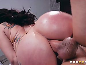 Mandy's gigantic bootie bounces by intensive anal invasion drilling
